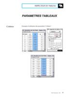 Manuel Post : Paramètres Tableaux 9