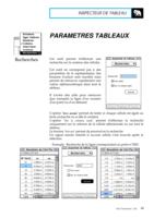 Manuel Post : Paramètres Tableaux 10