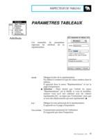 Manuel Post : Paramètres Tableaux 1