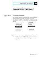 Manuel Post : Paramètres Tableaux 3