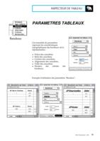 Manuel Post : Paramètres Tableaux 4