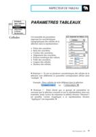 Manuel Post : Paramètres Tableaux 5