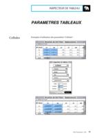 Manuel Post : Paramètres Tableaux 6