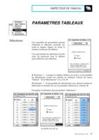 Manuel Post : Paramètres Tableaux 7