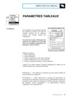 Manuel Post : Paramètres Tableaux 8