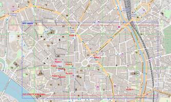 Variante 1 : 10 points autour de la place du Capitole : carte debug