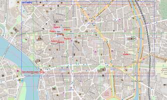 Variante 1 : 8 points autour de la place du Capitole : carte debug
